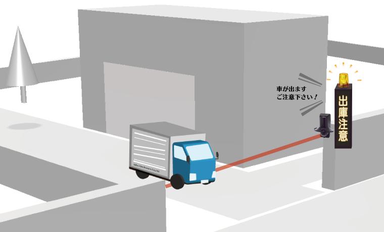 車両出庫注意表示器